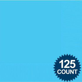 Bright Blue Luncheon Napkins (125 Pack)