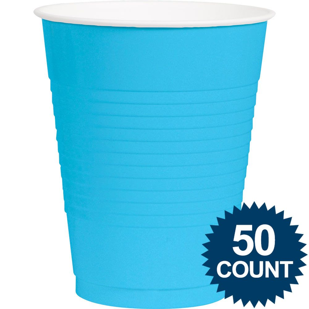 Bright Blue Plastic 16oz. Cup (50 Pack) - Party Supplies BB43680154