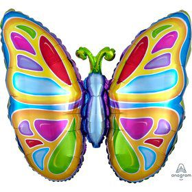 Bright Butterfly 25 Jumbo Foil Shaped Balloon