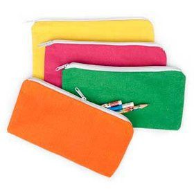 Bright Canvas Pencil Case (12 Pack)