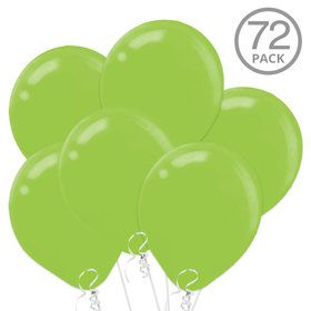 Bright Green Latex Balloons (72 Count)