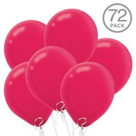Bright Pink Latex Balloons (72 Count)