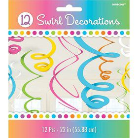 "Bright Plastic 22"" Hanging Decorations, Asst."