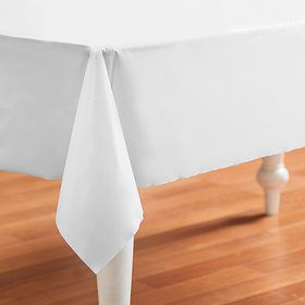 Bright White (White) Plastic Tablecover