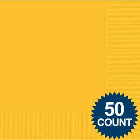 Bright Yellow 2-Ply Luncheon Napkins, 50 ct.