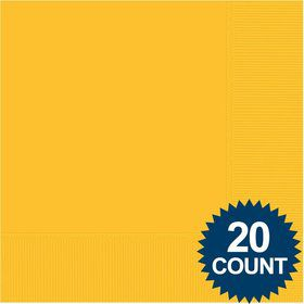 Bright Yellow 3-Ply Luncheon Napkins, 20 ct.