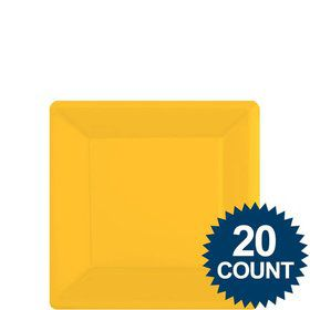 "Bright Yellow 7"" Square Paper Plates, 20 ct."