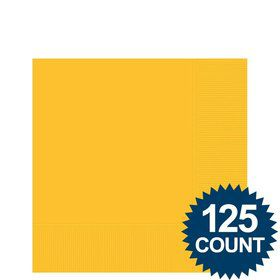 Bright Yellow Beverage Napkins (125 Pack)