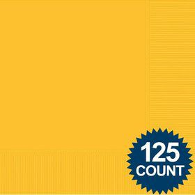 Bright Yellow Luncheon Napkins (125 Pack)