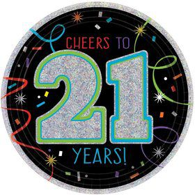 "Brilliant 21st Birthday 7"" Dessert Plates (8 Count)"