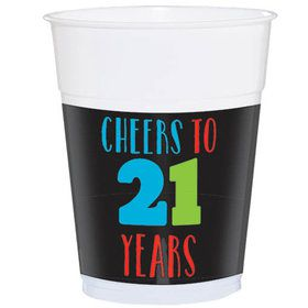 Brilliant 21st Birthday Plastic 16oz Cups (25 Count)
