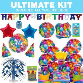 Brilliant Balloons Birthday Party Ultimate Tableware Kit