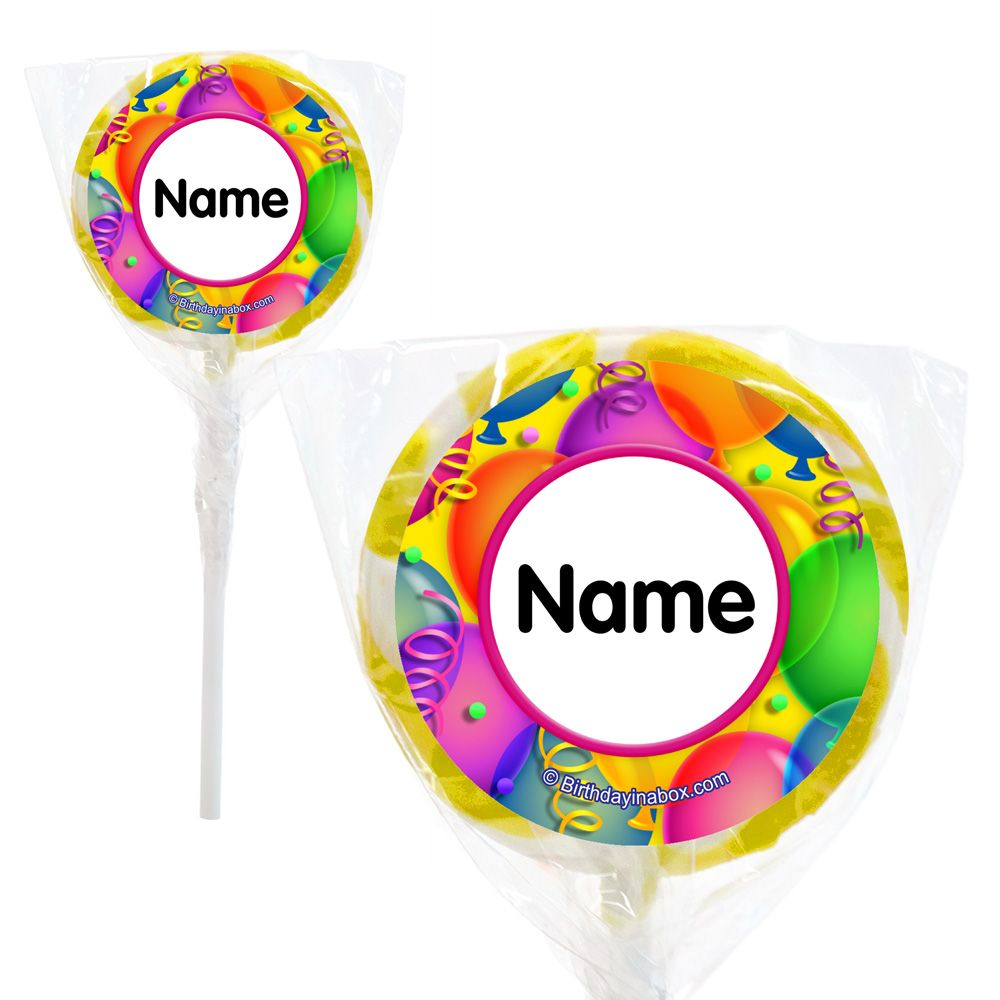 """Brilliant Balloons Personalized 2"""" Lollipops (20 Pack) BB700179PPS"""