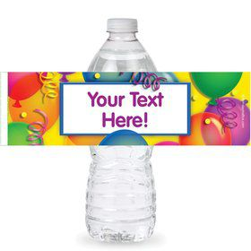Brilliant Balloons Personalized Bottle Labels (Sheet of 4)