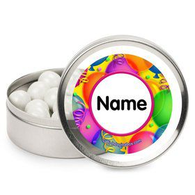 Brilliant Balloons Personalized Candy Tins (12 Pack)