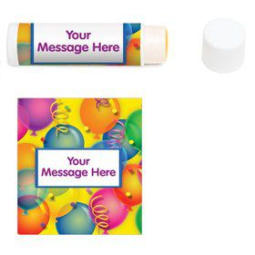 Brilliant Balloons Personalized Lip Balm (12 Pack)