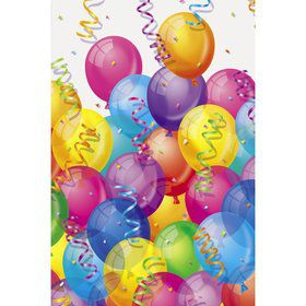 Brilliant Balloons Plastic Table Cover