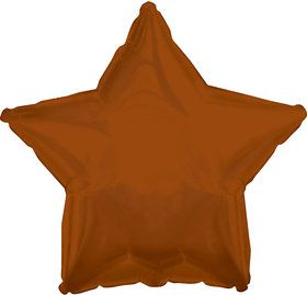Brown Star Foil Balloon