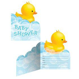 Bubble Bath Baby Shower Invitation (8 Count)