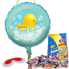 Bubble Bath Baby Shower Pull String Economy Pinata Kit
