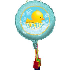 Bubble Bath Baby Shower Pull String Pinata