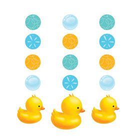 Bubble Bath Duck Hanging Cutouts (3 Count)