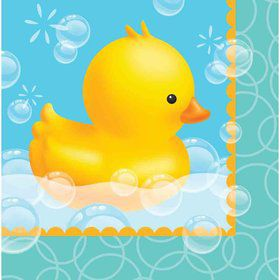 Bubble Bath Lunch Napkins (16 Count)