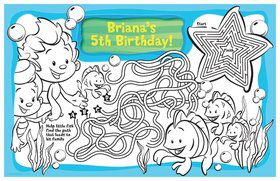 Bubble Friends Personalized Activity Mat (8 Pack)