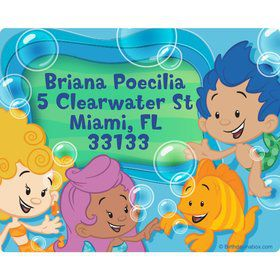 Bubble Friends Personalized Address Labels (Sheet of 15)