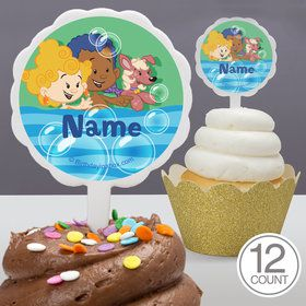 Bubble Friends Personalized Cupcake Picks (12 Count)