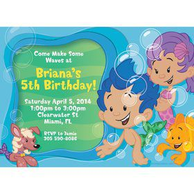Bubble Friends Personalized Invitation (Each)