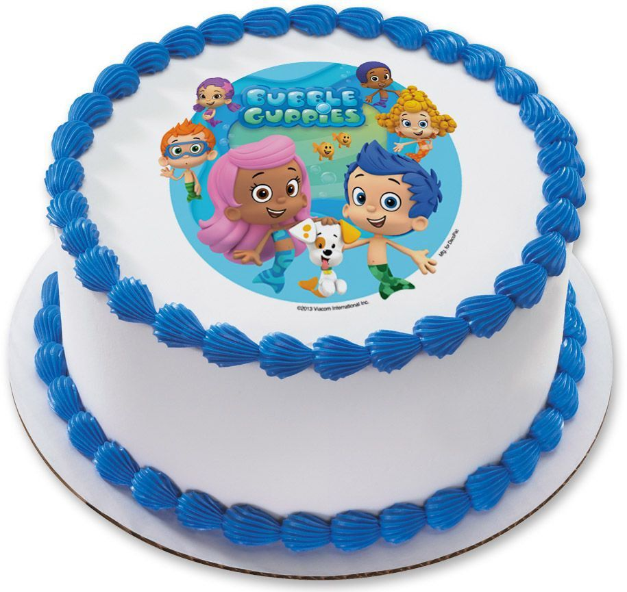 Bubble Guppies 75 Round Edible Cake Topper Cooking Kits Party
