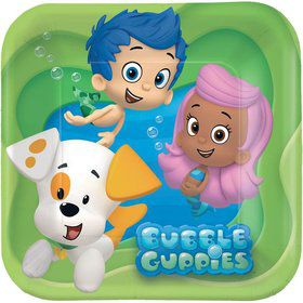 "Bubble Guppies 7"" Cake Plates (8 Pack)"