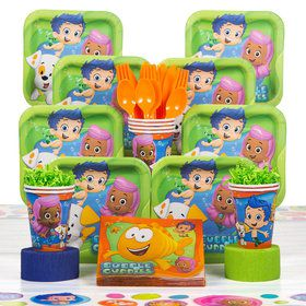 Bubble Guppies Birthday Party Deluxe Tableware Kit (Serves 8)