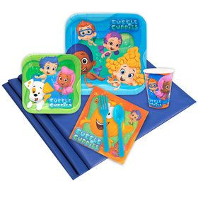 Bubble Guppies Birthday Party Deluxe Tableware Kit Serves 8