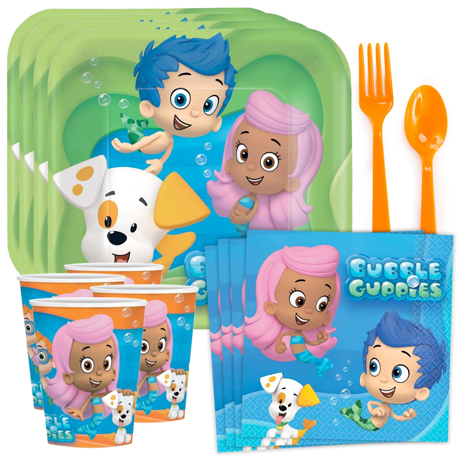 Bubble Guppies Birthday Party Supplies Tableware Kit Serves 8 BBKIT563