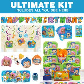 Bubble Guppies Birthday Party Ultimate Tableware Kit Serves 8