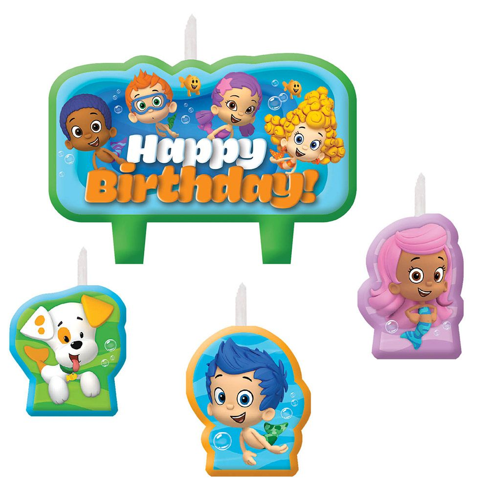 Bubble Guppies Candle Set (4 Pack) - Party Supplies BB171425