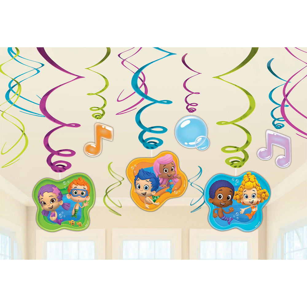 Bubble Guppies Foil Swirl Hanging Decorations (Each) BB671425