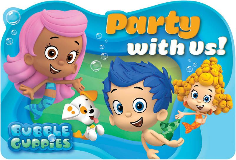 Bubble Guppies Invitations (8 Pack) - Party Supplies BB491425