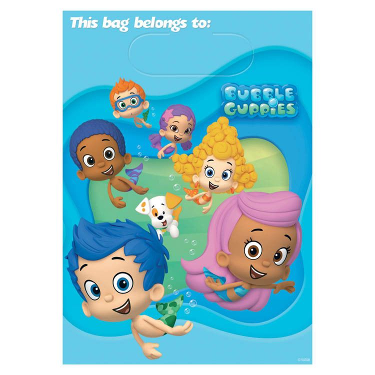 Bubble Guppies Loot Bags (8 Pack) - Party Supplies BB4991427
