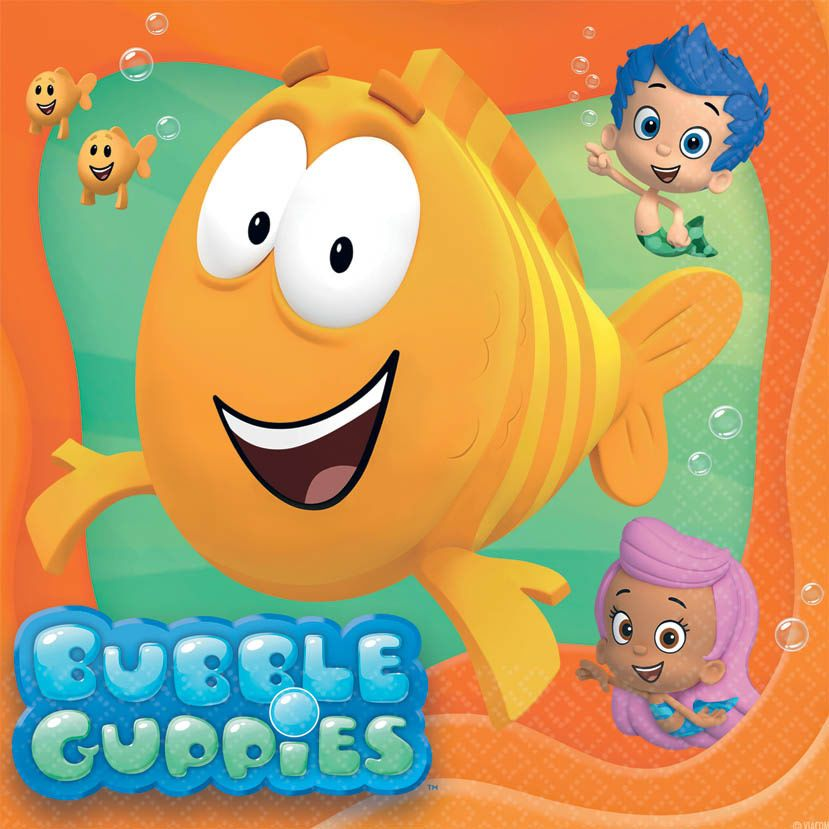 Bubble Guppies Luncheon Napkins (16 Pack) - Party Supplies BB4991423