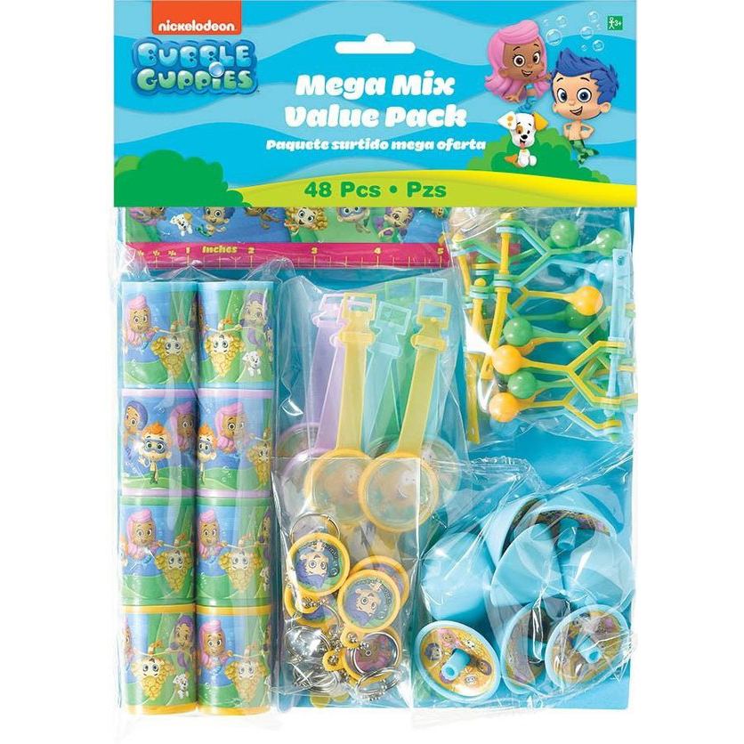 Bubble Guppies Mega Mix Favor Pack (For 8 Guests) - Party Supplies BB394631