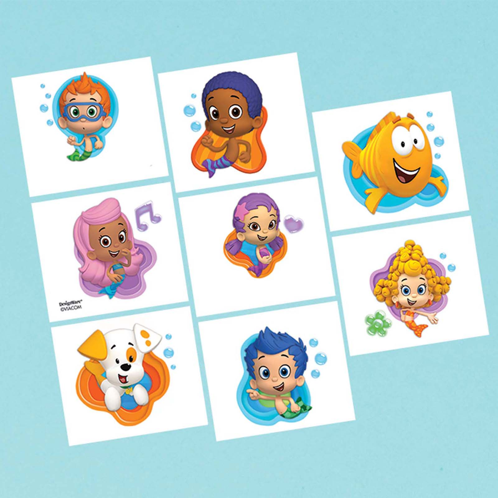 Bubble Guppies Tattoo Favors (16 Pack) - Party Supplies BB394628