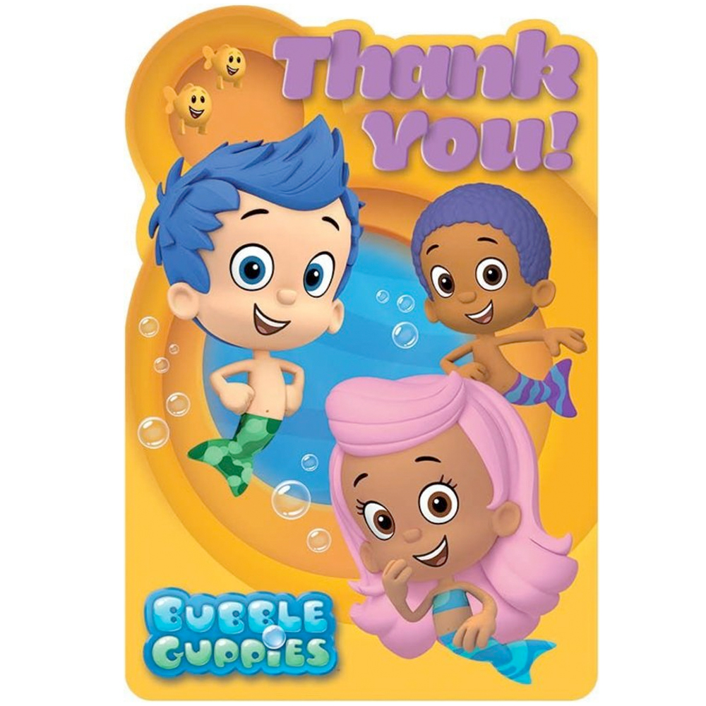 Bubble Guppies Thank You Cards (8 Pack) BB481425