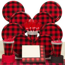 Buffalo Plaid Deluxe Tableware Kit (Serves 8)