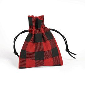 Buffalo Plaid Fabric Bags (12)