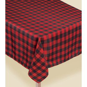 Buffalo Plaid Fabric Table Cover