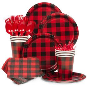 Buffalo Plaid Standard Tableware Kit (Serves 8)