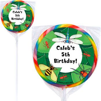 Bugs Personalized Lollipops (pack of 12) BB019670-P